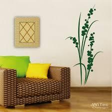 wandtattoos wandbilder blumen design pflanze 1n wohnzimmer