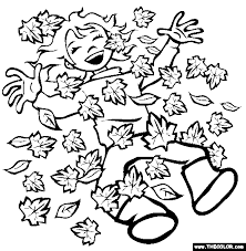 Pile Of Leaves Coloring Page