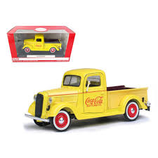 1937 Ford Pickup Truck Coca Cola Yellow 1/24 Diecast Model Truck By ... Kenworth Trucks Chevrolet Silverado Ctennial Edition Diecast Scale Model Custom 150 Scale Diecast Garbage Truck Model With Working Lights Buffalo Road Imports Faun K20 Dump Yellow Dump Trucks Diecast Model Diecast Tufftrucks Australia Devon Mcintosh Plant Haulage Oxford Truck 176 Quick Cacola 443012 Led Christmas Light Up Red Amazoncouk Semi Toys Best Resource Cooee Classics 164 187 And Ho Models Of 1952 Coe Pickup Redblack Wheels 1 24