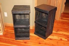 DIY Crate Nightstand Cherry Nightstands