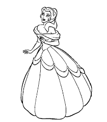 Perfect Belle Princess Coloring Pages 98 In Picture Page With