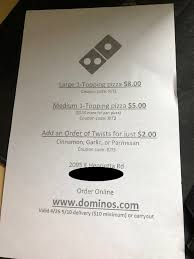 Apparently The Local Dominos Was Pasting Discount Codes On ...