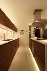 galley kitchen with cabinet lighting fixtures best