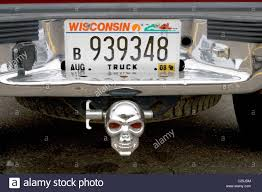 Pickup Truck With Skull Trailer Hitch. Baldwin Wisconsin WI USA ...