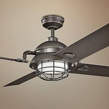 Kitchen Ceiling Fans With Led Lights by Best 25 Caged Ceiling Fan Ideas On Pinterest Industrial Ceiling