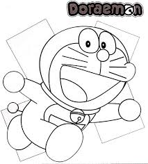 Running Doraemon Coloring Pages
