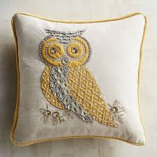 Pier One Outdoor Throw Pillows by Gilded Beaded Owl Pillow Pier 1 Imports