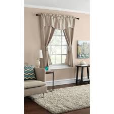 Walmart Mainstay Sheer Curtains by Mainstays Damask Scroll Window Curtain Set Curtain Panels And