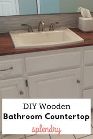 How To Make A Wooden Countertop For Your Bathroom - Splendry Ideas Bath Countertop Vanity Countertops Towel Bathroom Corner Unit Diy Painted Sink Blesser House Tag Archived Of Outdoor Kitchen Depth Likable Temporary How To Make Wood That Look Insanely Expensive Must Cabinet Lighting Mirror Diy Small Modern Ten June Custom Grey Reclaimed Creative Decoration Modular Cabinets Hgtv Glacier Bay 201 Wwwmichelenailscom Vanities Unique Home Only Vessel Inches Depot Without Meas