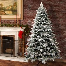 75 Slim Flocked Christmas Tree by 7 U0027 8 U0027 High Flocked Christmas Trees You U0027ll Love Wayfair