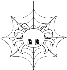 Printable Cute Animal Spider Coloring Page