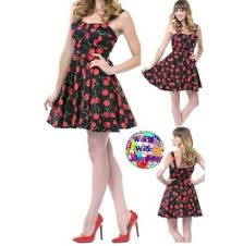 50s Retro Style Rockabilly Pin Up Cherry Dress Ae 411747 World Wide Shipping
