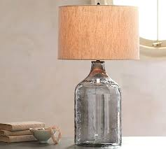 Fillable Glass Lamp Ideas by Fillable Glass Table Lamp Base With Alana Luster Jug Indigo