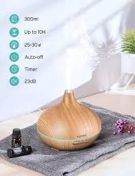 victsing 500ml aroma diffuser 23db ultra leise luftbefeuchter ultraschall für schlafzimmer kinderzimmer bpa free öle diffusor aromatherapie mit 7