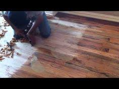 Buffing Hardwood Floors Youtube by Amazing Technique For Hand Scraping Wide Plank Engineered White