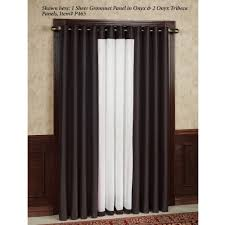 Striped Sheer Curtain Panels by Soho Tailored Sheer Grommet Curtain Panels