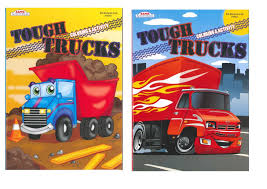 Amazon.com: Tough Trucks Coloring And Activity Books (Kappy Books, 2 ...
