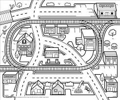 Color It Black Project For Awesome City Coloring Pages