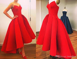 2017 Red Vintage Short Prom Sheer Dresses With Sweetheart Neck Tea Length Puffy Skirt Unique Party Evening Gowns Wear Custom Made Plus Size Formal Dress