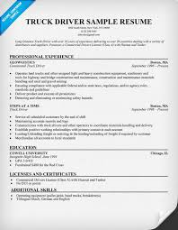 Awesome Collection Of Truck Driver Resume Examples Resumes Robertottni