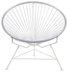 Innit Acapulco Rocking Chair by Innit Vinyl Cord Chair With White Frame Midcentury Outdoor