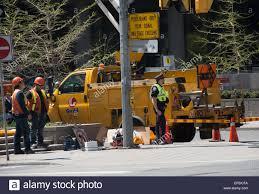 100 Bucket Truck Repair Guild Of Electric Workers Construction Crew In Front Of Lift Bucket