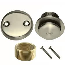 Bathtub Drain Lever Stopper Removal by Brushed Nickel Toe Touch Conversion Kit Tub Drain Overflow And