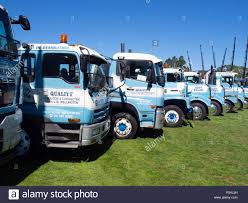 Demolition Trucks At A Truck Show Stock Photo: 209700137 - Alamy