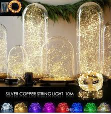 10m 100 Led 3aa Battery Operated Copper Wire Colorful Tiny String Fairy Light For Christmas Holiday Wedding Party Decoration Tree Outdoor