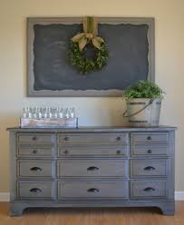 Dresser Painted With Annie Sloan Chalk Paint In Graphite A Faux Zink Wax Finish Would Be Perfect For Dining Buffet Or TV Enter