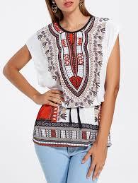 tees u0026 t shirts white l tribal print tunic t shirt gamiss