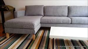 Ikea Soderhamn Sofa Assembly by Ikea Karlstad Sofa And Chaise Longue Design Youtube
