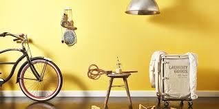 wandgestaltung mit der farbe gelb das haus