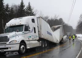 100 Crosby Trucking Snow Ice Rain Collapse Two Canadian Trucking Trailers In Newry
