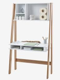 bureau enfant en bois bureau spécial primaire avec étagères ligne architekt blanc bois