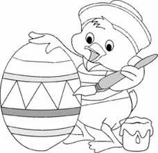 Little Duck Coloring Easter Egg Pages For Kindergarten