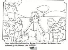 Jesus Appears To His Disciples Coloring Page