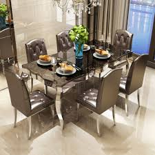 100 6 Chairs For Dining Room Rama Dymasty Stainless Steel Set Home Furniture Modern
