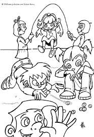Kids Playing Coloring Page
