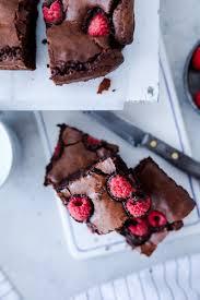 rezept saftige himbeer brownies zucker zimt und liebe