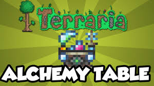 Terraria Chair And Table by New Terraria 1 3 Items The U0027alchemy Table U0027 Terrraria 1 3 New