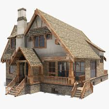 Old House 3d 3ds 3D Realtime Animation Moodboard Model