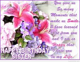 beautiful flower birthday wishes for dear sister