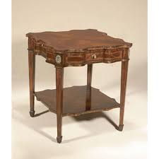 Maitland Smith Buffet Lamps by Smith Aged Regency Finished Mahogany Serpentine End Table Sienna