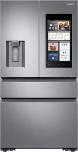 Samsung Cabinet Depth Refrigerator Dimensions by Samsung Family Hub 2 0 22 2 Cu Ft 4 Door French Door Counter
