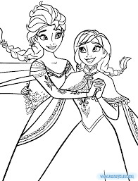 Coloring Pages Anna And Elsa 03 Disney Pinterest
