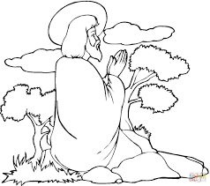 Click The Jesus Praying Coloring Pages