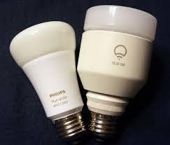 lifx vs hue comparison infographic of both smart light bulbs