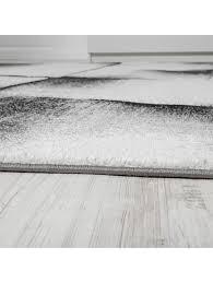paco home designer teppich wohnzimmer teppiche kurzflor meliert lila grau schwarz creme klingel