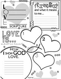 Love Your Neighbor Coloring Page 13 Happy Christian Home Valentines Day Resources For Childrens
